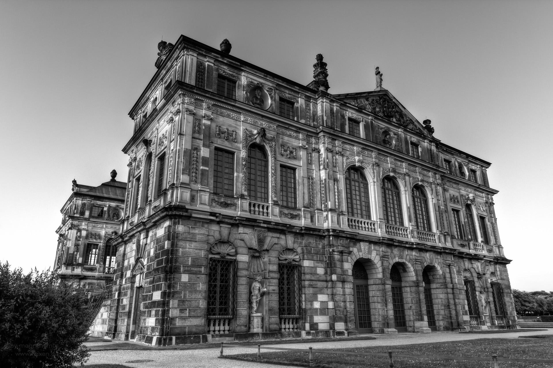 Palais in public park Dresden