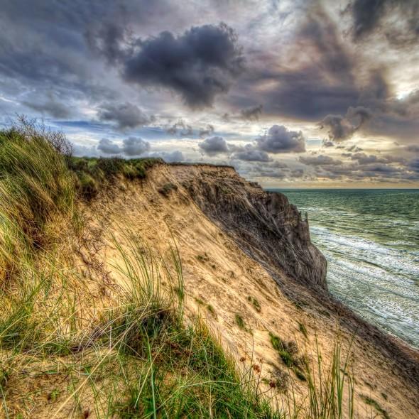 Lønstrup coast part, Denmark