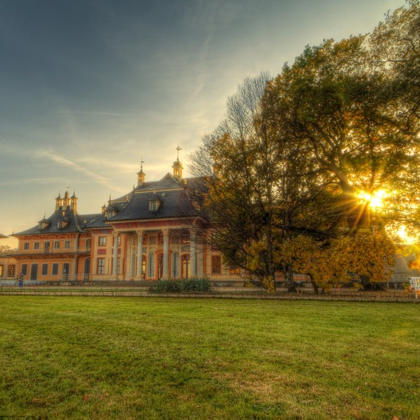 lights of autumn in Dresden Pillnitz