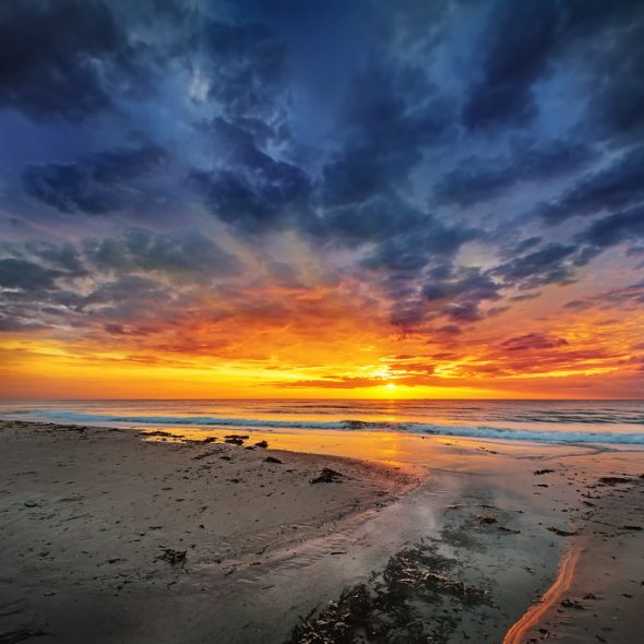 Sunset in hirtshals