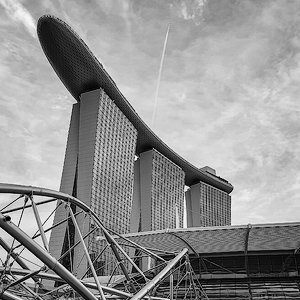 Helix in front of MARINA BAY