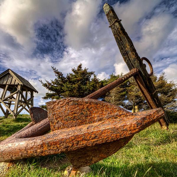 Mårup Kirke near Lønstrup (Denmark) the anchor
